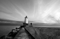 Ludington Light Black & White